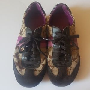 Coach Purple and Brown Sneakers